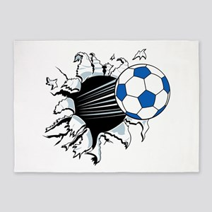 Breakthrough Soccer Ball 5'x7'Area Rug