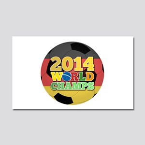 2014 World Champs Ball - Germany Car Magnet 20 x 1