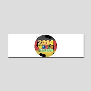 2014 World Champs Ball - Germany Car Magnet 10 x 3