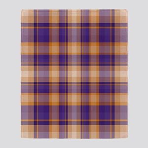 Peanut Butter and Jelly Plaid Throw Blanket