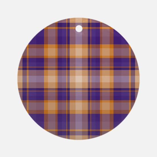 Peanut Butter and Jelly Plaid Ornament (Round)