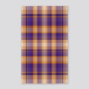 Peanut Butter and Jelly Plaid 3'x5' Area Rug