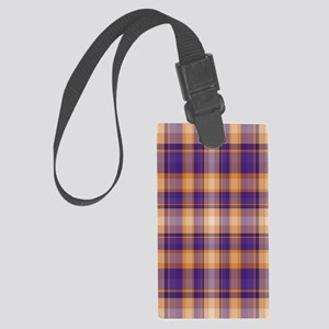 Peanut Butter and Jelly Plaid Large Luggage Tag