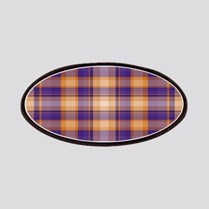Peanut Butter and Jelly Plaid Patches