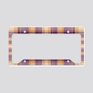 Peanut Butter and Jelly Plaid License Plate Holder