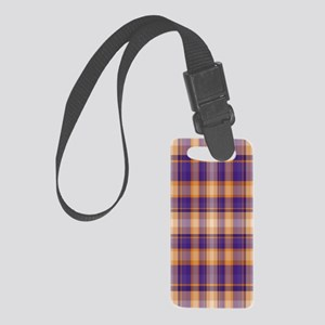 Peanut Butter and Jelly Plaid Small Luggage Tag