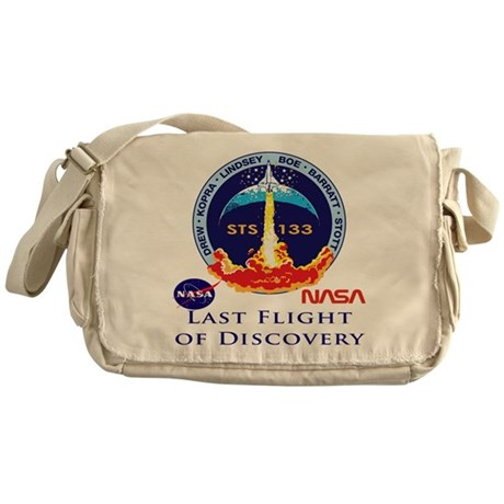 Last Flight of Discovery Messenger Bag