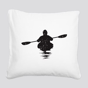 Kayaking Square Canvas Pillow
