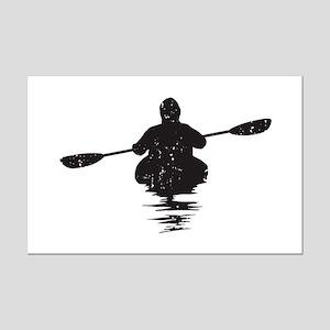 Kayaking Mini Poster Print