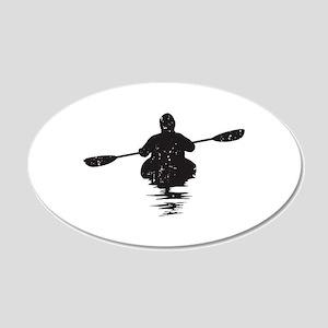 Kayaking 20x12 Oval Wall Decal