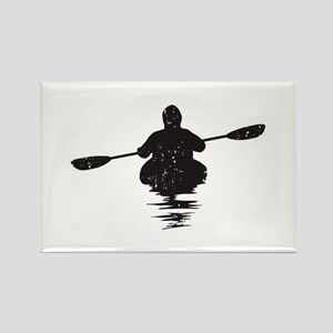 Kayaking Rectangle Magnet