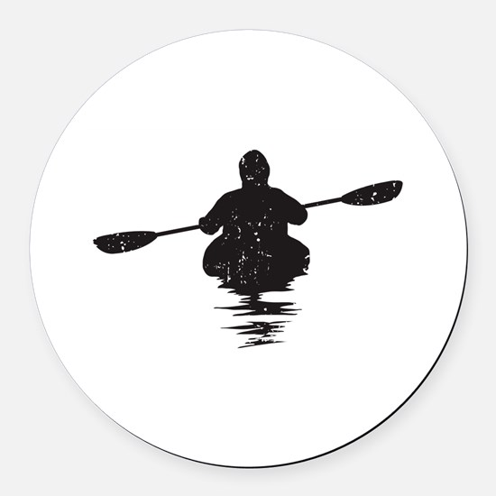 Kayaking Round Car Magnet