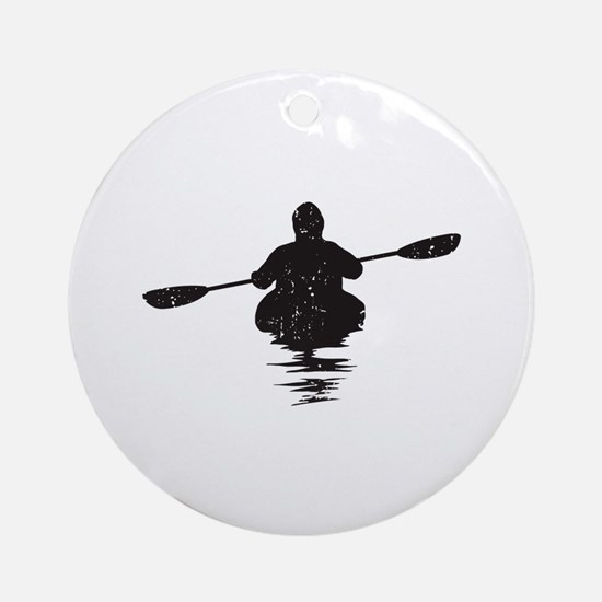 Kayaking Ornament (Round)