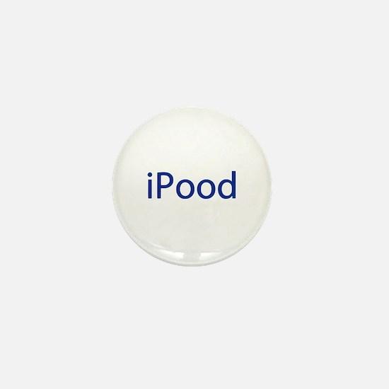 iPood Funny Blue Mini Button