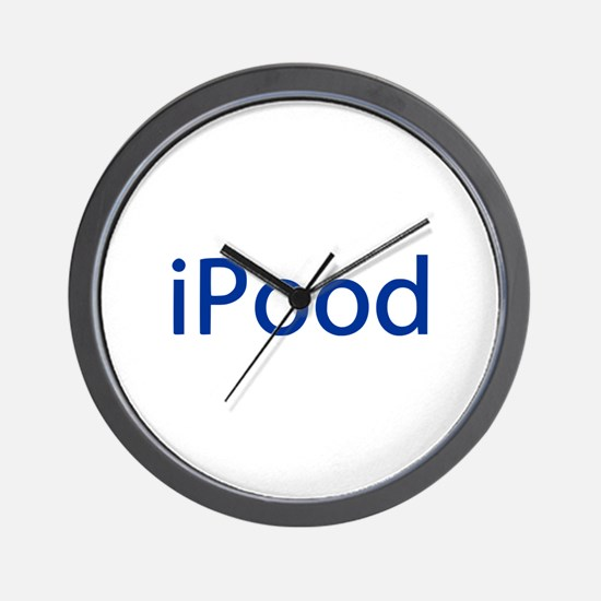 iPood Funny Blue Wall Clock
