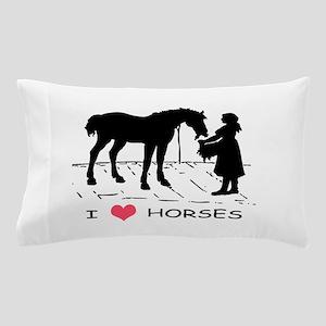 Horse & Girl I Heart Horses Pillow Case