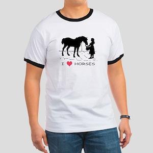 Horse & Girl I Heart Horses Ringer T