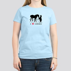 Horse & Girl I Heart Horses Women's Light T-Shirt