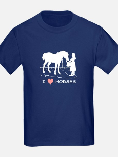 Horse & Girl I Heart Horses T