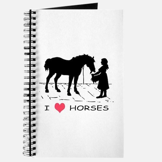 Horse & Girl I Heart Horses Journal