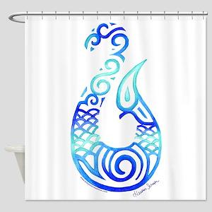 Tribal Fish Hook Shower Curtain