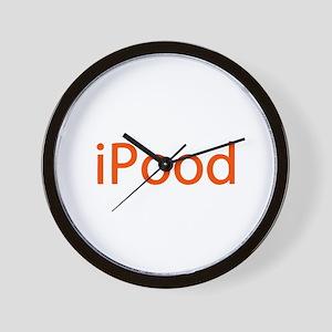 iPood Humor Jokes Wall Clock