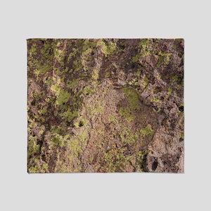 Lichen and Rock Throw Blanket