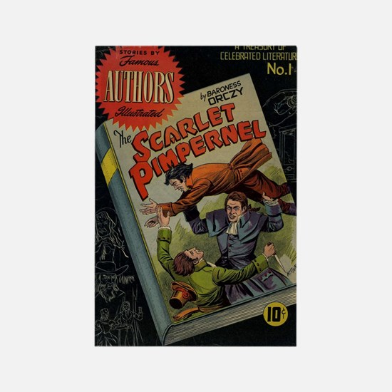 The Scarlet Pimpernel Comic Book Rectangle Magnets