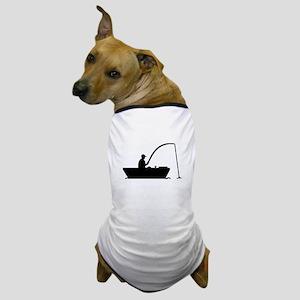 Angler Fisher boat Dog T-Shirt