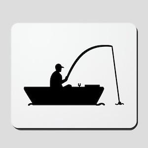 Angler Fisher boat Mousepad
