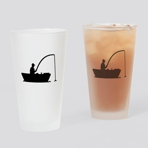 Angler Fisher boat Drinking Glass