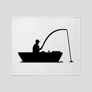Angler Fisher boat Throw Blanket