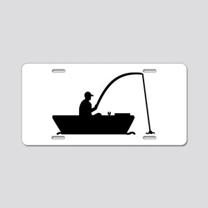Angler Fisher boat Aluminum License Plate