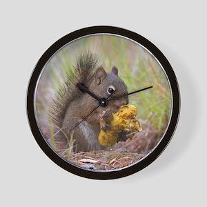 Happy Squirrel & Prized Mushroom Wall Clock