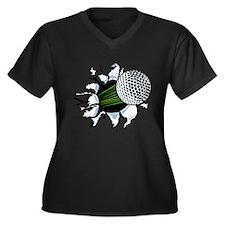breakthrough Women's Plus Size V-Neck Dark T-Shirt