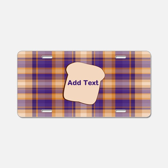 Peanut Butter and Jelly Pla Aluminum License Plate