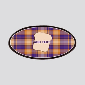 Peanut Butter and Jelly Plaid bread Patches