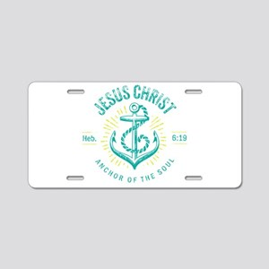 Anchor of the Soul Aluminum License Plate
