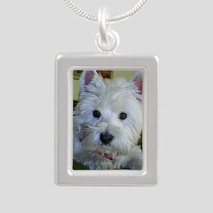 Nelly klein Silver Portrait Necklace