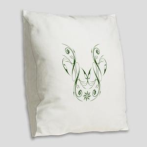 Irish Insignia Burlap Throw Pillow