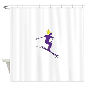 Ski Bunny Shower Curtains