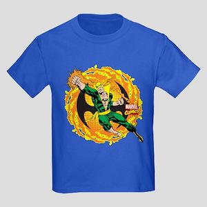 Marvel Iron Fist Action Kids Dark T-Shirt