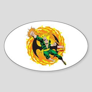 Marvel Iron Fist Action Sticker (Oval)