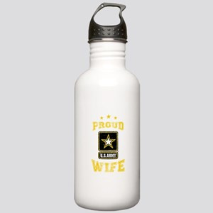 US Army proud Wife Stainless Water Bottle 1.0L