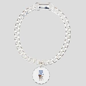Keep Calm and Love A Jac Charm Bracelet, One Charm
