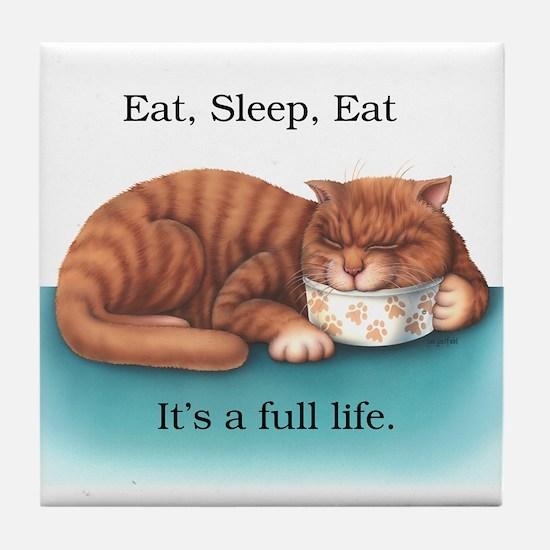 Eat Sleep Eat Tile Coaster