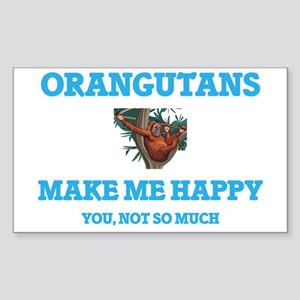 Orangutans Make Me Happy Sticker