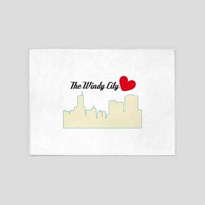 The Windy City Love 5'x7'Area Rug