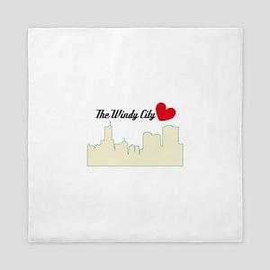 The Windy City Love Queen Duvet