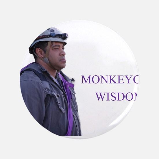 """monkeycatWisdom 3.5"""" Button (100 pack)"""